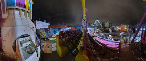 coney island swing ride luminous new york lumin o city photography by joergen