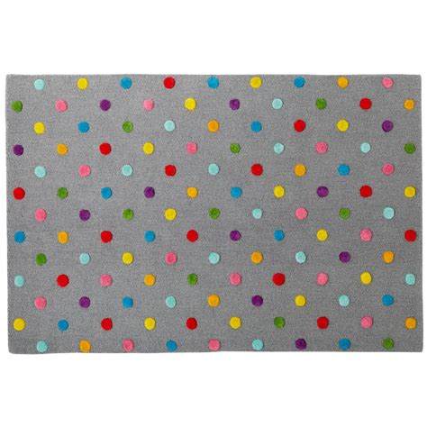 rugs children rugs multi color dot grey rug the land of nod