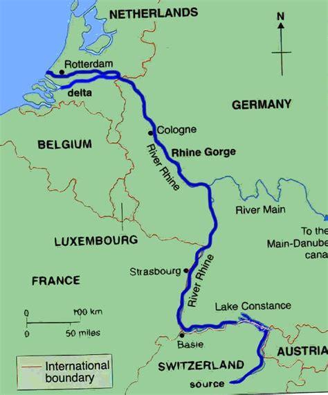 rhine germany map germany map rhine river