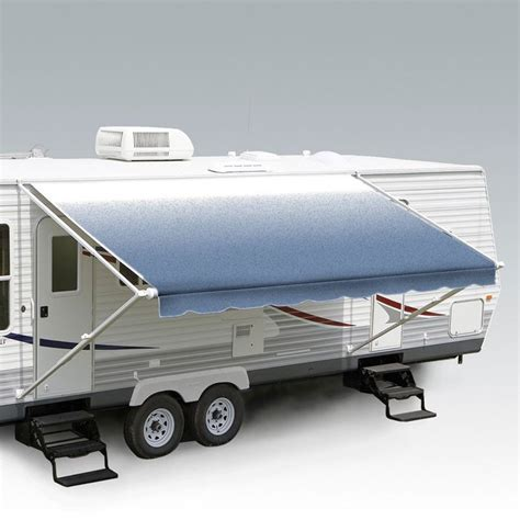 carefree roll out awning carefree 18ft blue shale fade roll out awning no arms ff186c00