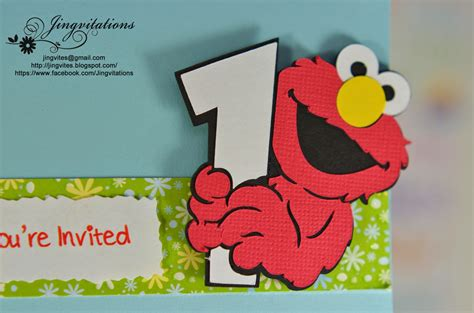 elmo birthday card template jingvitations elmo baby cards shower birthday invitations