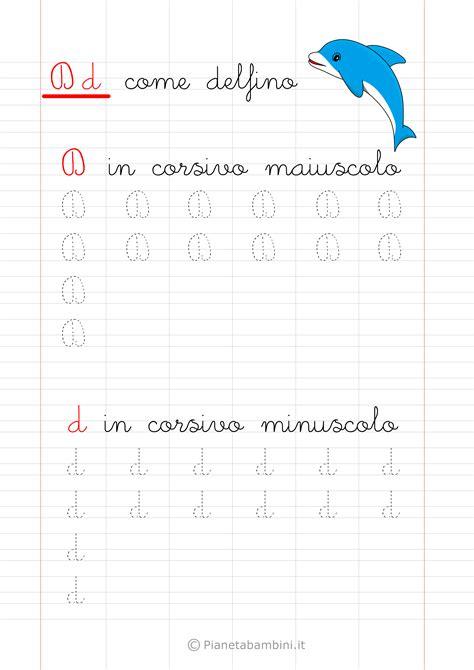lettere d da copiare schede di pregrafismo delle lettere dell alfabeto da