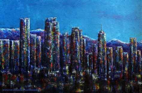 paint nite denver frosty downtown denver colorado painting by