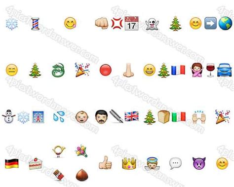 printable christmas emoji quiz 100 pics christmas emoji level 81 100 answers 4 pics 1