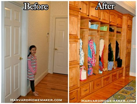Hanging Shoe Storage by Turn A Closet Into An Awesome Mudroom Space With A Fun