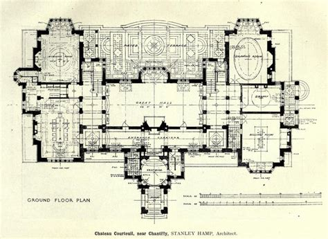 Chateau Plans by Project For The Ch 226 Teau De Courteuil Chantilly Plans