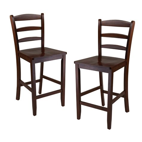 ladderback bar stools winsome wood 9424 ladder back stool set of 2 lowe s canada