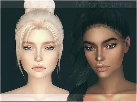 Decor Tiles And Floors by The Sims Resource Mia Skin Overlay By Milarasims Sims 4