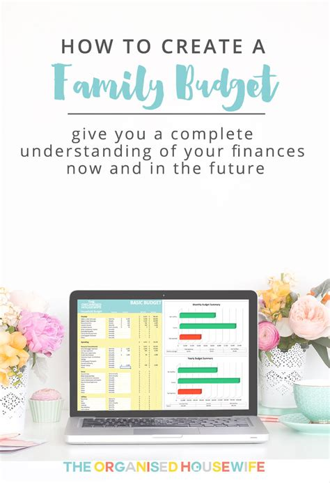 create  family budget  organised housewife
