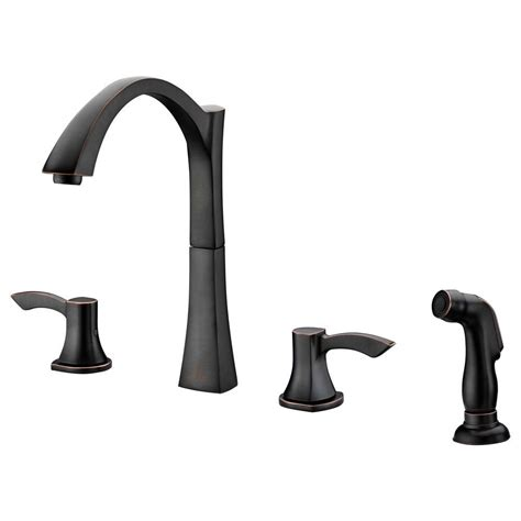 delta kitchen faucets rubbed bronze delta windemere 2 handle standard kitchen faucet with side sprayer in rubbed bronze 21996lf