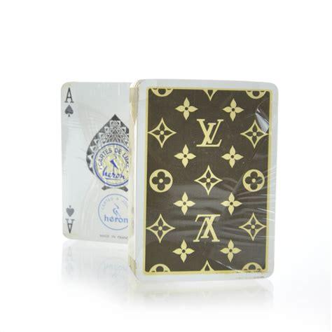 Louis Vuitton Gift Card - louis vuitton vintage monogram playing card cards set 30417