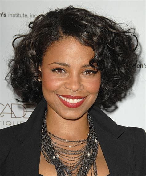 black hair styles in detroit michigan sanaa lathan short curly formal hairstyle