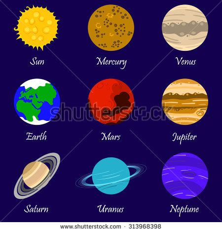 what colors are the planets planet color pencil and in color planet color