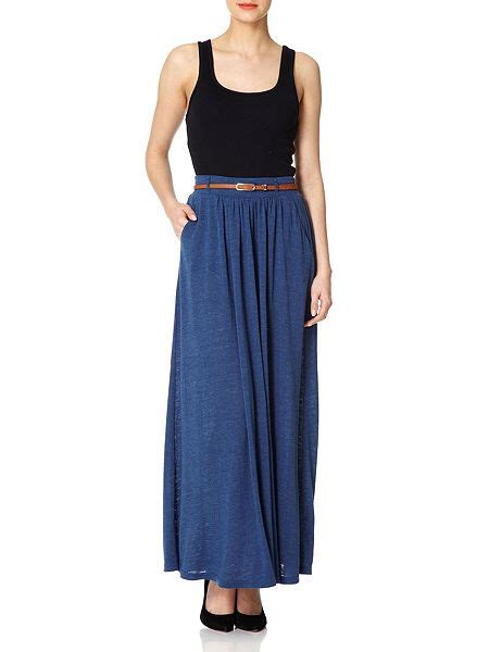 yumi match with everything maxi skirt blue house of fraser