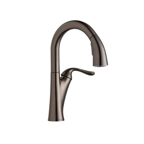 shop elkay explore antique steel 2 handle pull down elkay harmony single handle bar faucet with pull down
