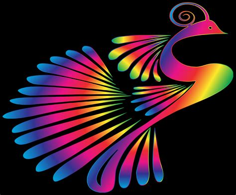 colorful pictures clipart colorful stylized peacock 16