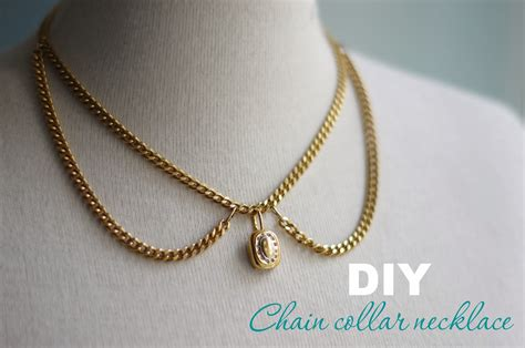 diy collar diy chain necklace collar