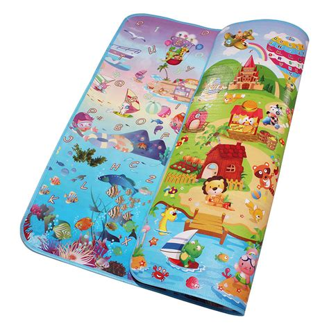 Toddler Mats by Side Sea World Happy Farm Baby Play Mats Infant