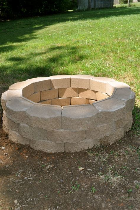 how to make a simple fire pit in your backyard how to build a back yard diy fire pit it s easy the garden glove