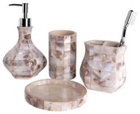 Bathroom Accessory Sets 4 Bath Accessory Set Of Pearl Style Bathroom Accessory Sets By