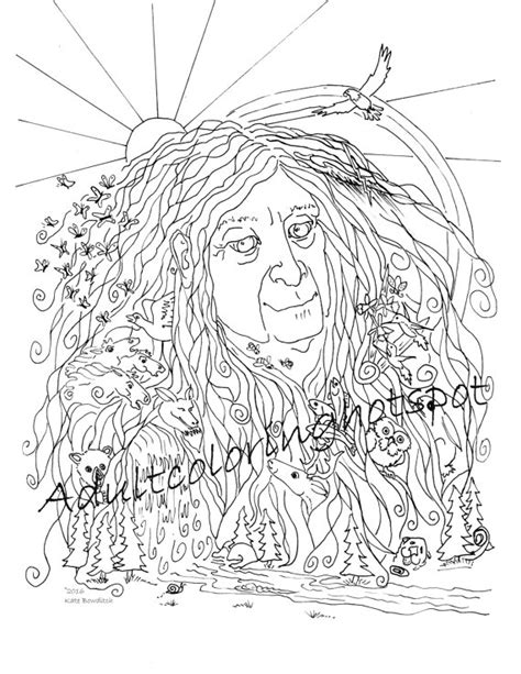 mother earth coloring page mother earth flood clipart mother nature coloring page