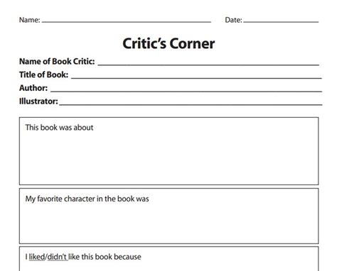 book review template from http www scholastic com