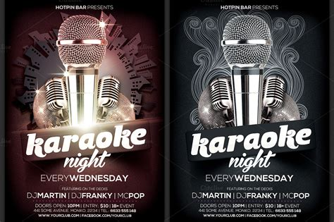 free templates for karaoke flyers karaoke night flyer template flyer templates on creative