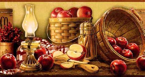 Apple Wallpaper Kitchen   basket of apples wall border ke4914bdb wallpaper