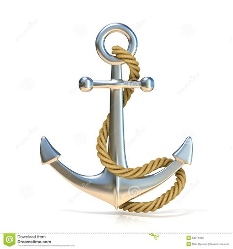 steel anchor with stock illustration image 53074980
