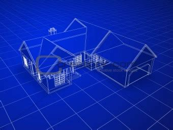 3d blueprint image 443081 3d house from crestock stock photos