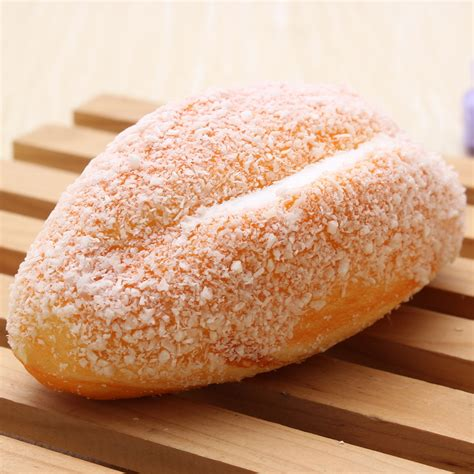 Squishy Coconut 12cm squishy soft bread with coconut shred phone straps