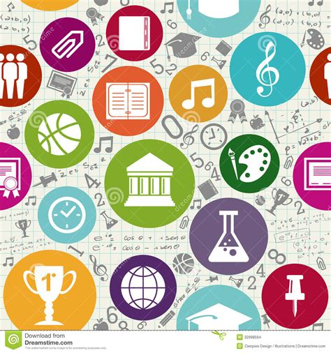 background wallpaper education icon education icons back to school seamless pattern stock