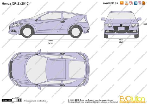 Drawing Z In Autocad by The Blueprints Vector Drawing Honda Cr Z