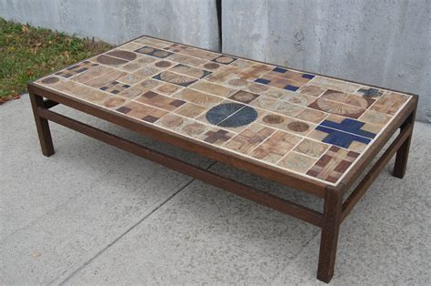 Tiled Coffee Tables Coffee Table By Willy Beck With Ceramic Tile Top By Tue Poulsen At 1stdibs