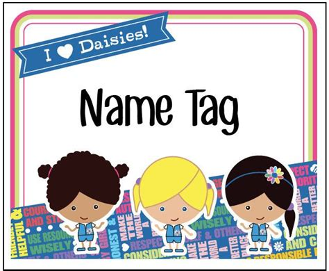 printable girl scout name tags daisy girl scout name tag stickers printable by