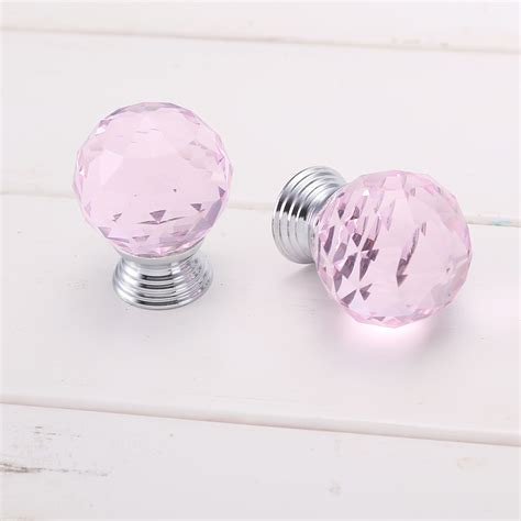Pink Cabinet Knobs by 8x Pink Cut Door Knobs Cupboard Drawer Cabinet