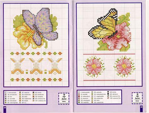 schemi punto croce farfalle e fiori farfalle su fiori magiedifilo it punto croce uncinetto