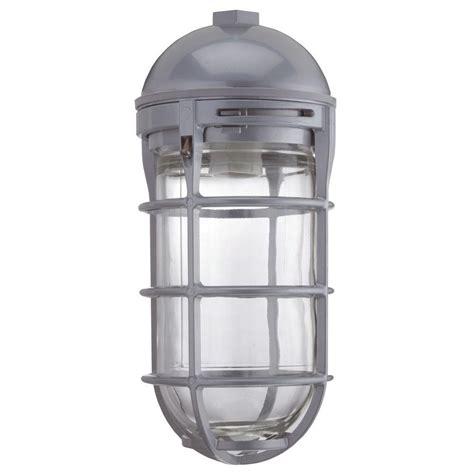 Utility Lighting Fixtures Sea Gull Lighting Kent 1 Light Outdoor Black Pendant Fixture 60029 12 The Home Depot