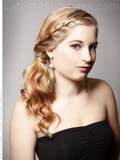 prom hairstyles down to the side prom braid you can turn a simple side ponytail into prom