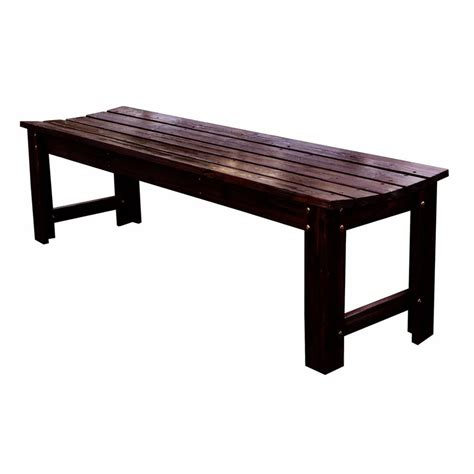 lowes patio bench shop shine company 17 in w x 60 in l burnt brown cedar