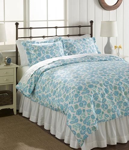 Llbean Bedding by Sateen 340 Thread Count Comforter Cover Floral Free