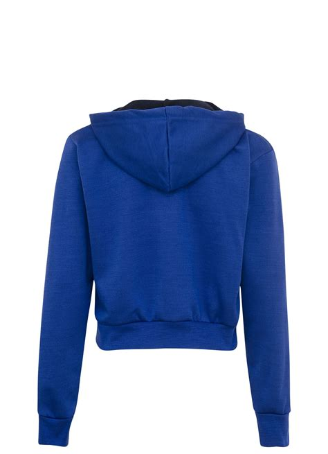 Sleeve Hooded Cropped Top new womens plain hooded crop top sleeve