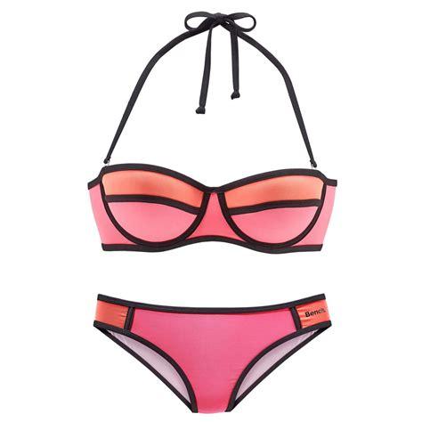 bench bikini balconette bikini pink orange von bench lascana