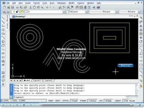 zwcad tutorial youtube creating offsets of objects in zwcad youtube