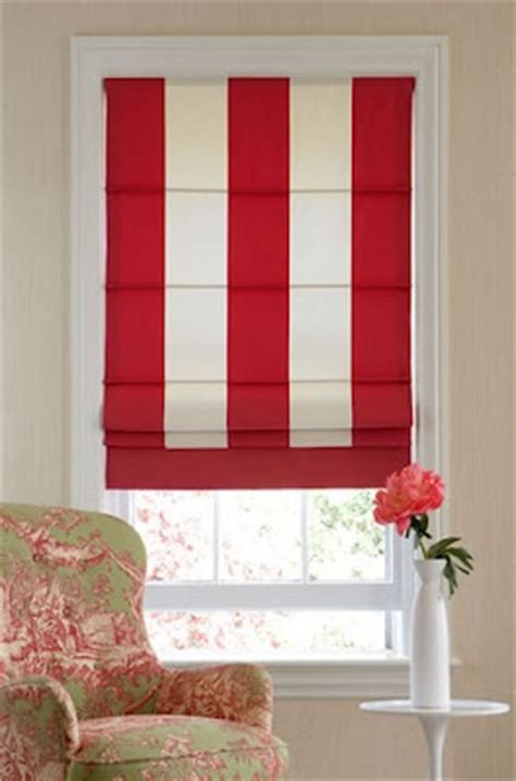 red and white striped l shade roman blinds thinner stripe though ebony s big
