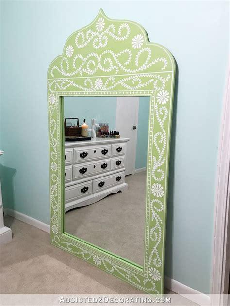 diy hand painted framed full length mirror decor french