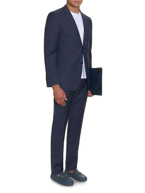 gucci loafers with suit lyst gucci horsebit rubber driving shoes in blue for