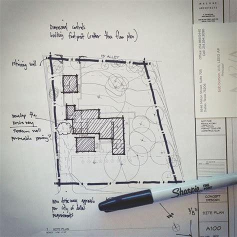 presentation drawing layout architectural sketch site plan line weight architectural