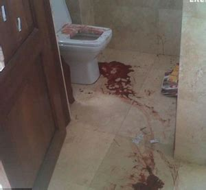 pistorius bathroom shocking photograph reveals the blood covered bathroom