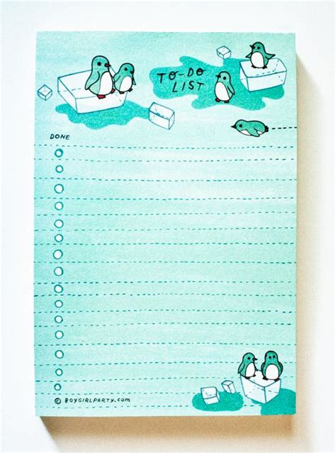 printable notepad to do list winter penguin to do list notepad at http shop